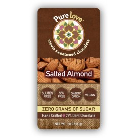 Salted Almond - Stevia Sweetened Chocolate Bar