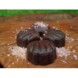 Chocolate Shells with Hawaiian Sea Salt - Stevia Sweetened