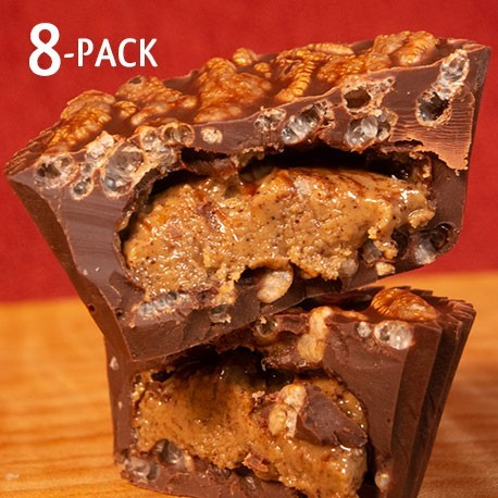 Hazelnut Butter Crispy Cups 8 pack