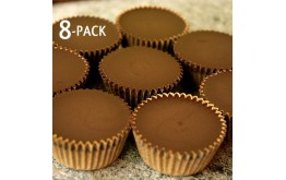 Almond Butter Cups 8 Pack - Low Carb, Stevia Sweetened, Organic, Vegan